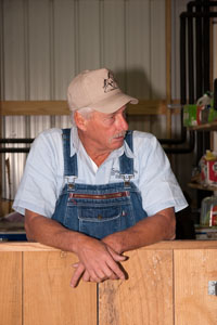 Ricky Estes, one of three local legends of moonshine at Short Mountain Distillery
