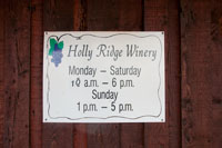 Holly Ridge Winery is located at 486 O'Neal Road in Livingston Tennessee