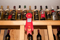 Some of the award winning wines produced at the winery