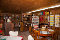 The side rooms offer antique furniture, quilts, advertising items and more