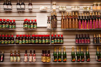 They cary a large selection of sauces and cooking wines