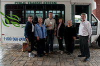 Left to Right; Lin Stepp, Ruth Dyal, Richard Lawson, Melanie Grigsby Harless, Mary Robbins, and our driver, John Wright