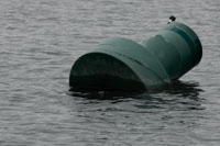 Water logged Buoy