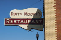 Dinty Moore's Restuarant sign was erected in 1955